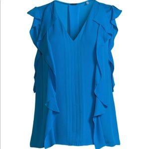 Elie Tahari Tops - New ELIE TAHARI  Dovie blouse with ruffle trim